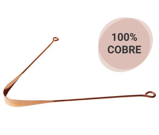 Raspador de língua de 100% cobre