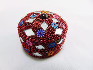 Potinho decorativo - vermelho