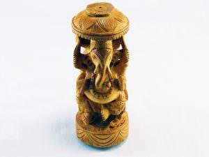 Escultura em madeira Ganesha