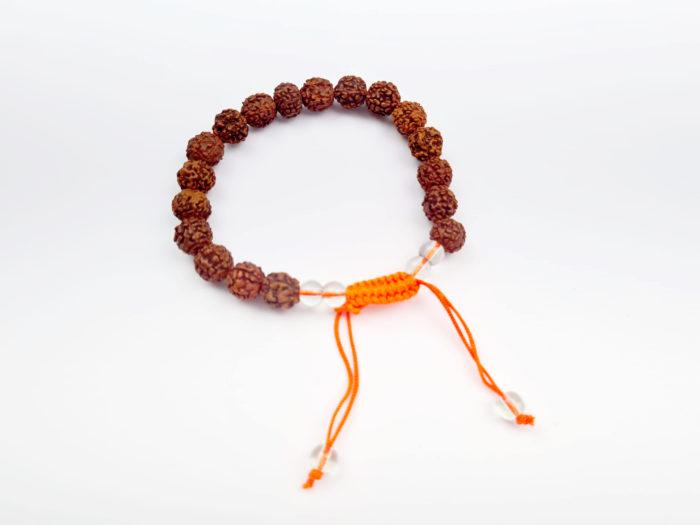 pulseira de Rudraksha com berloques