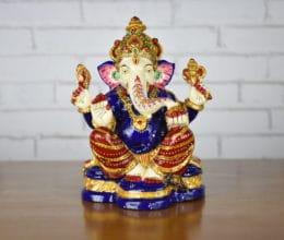 Ganesha estátua cloisonne