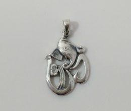 pingente de Ganesha de prata
