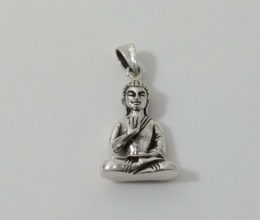 pingente de Buda de prata