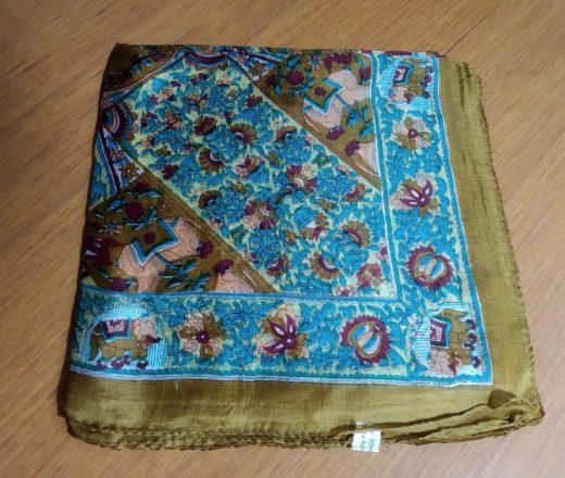 lenço de seda indiano
