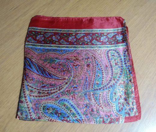 lenço de seda