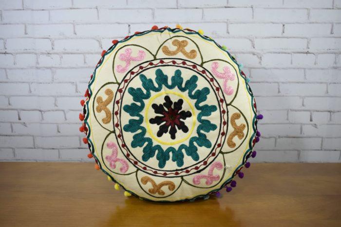 almofada indiana futon redonda