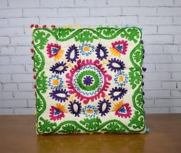 almofada indiana estilo futon quadrada