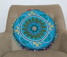 almofada indiana futon azul