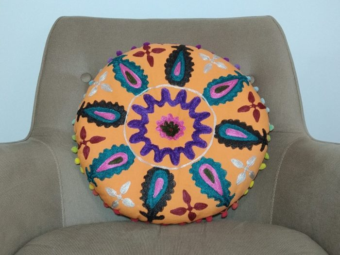 almofada indiana futon laranja