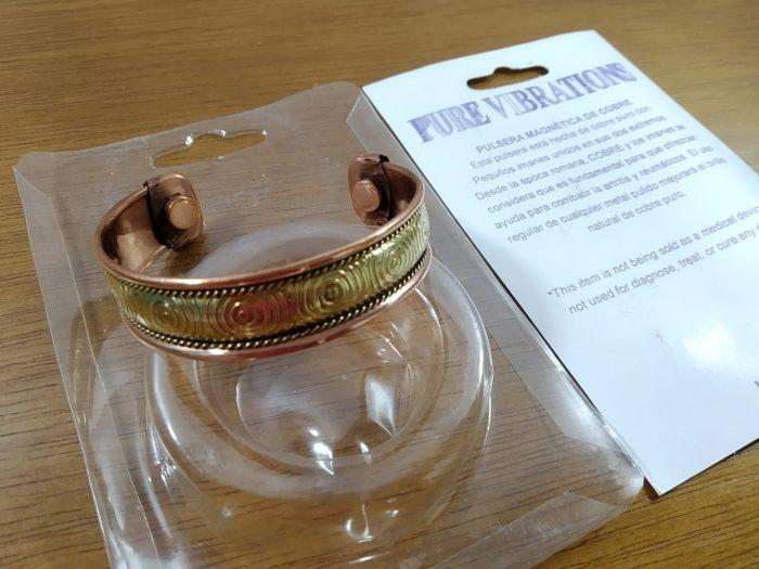 pulseira de cobre magnética