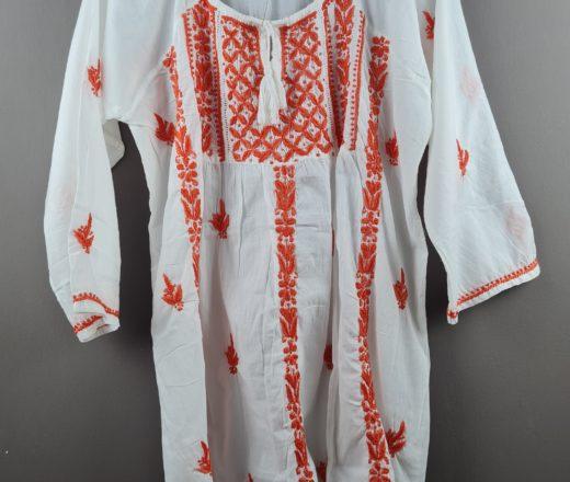 bata indiana feminina bordada