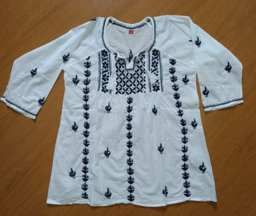 bata indiana de algodão