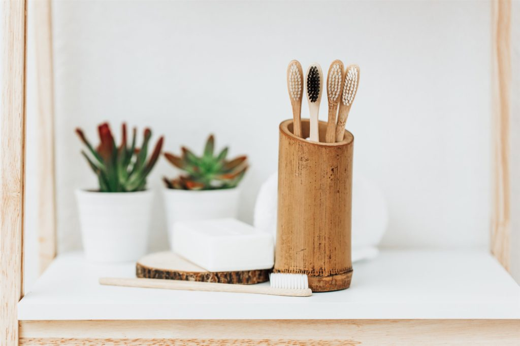 escova de dente de bambu