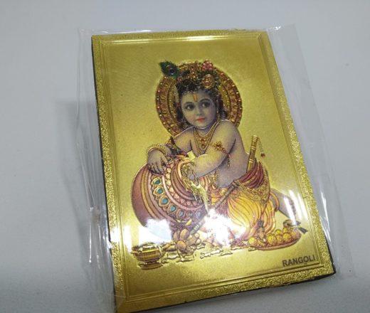 ímã de geladeira de Krishna criança