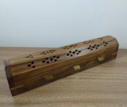 incensário box de madeira