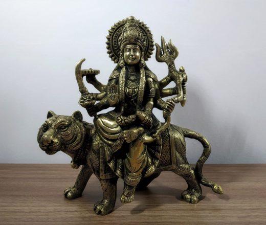 deusa durga em bronze