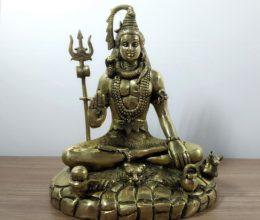 estátua de Shiva de bronze