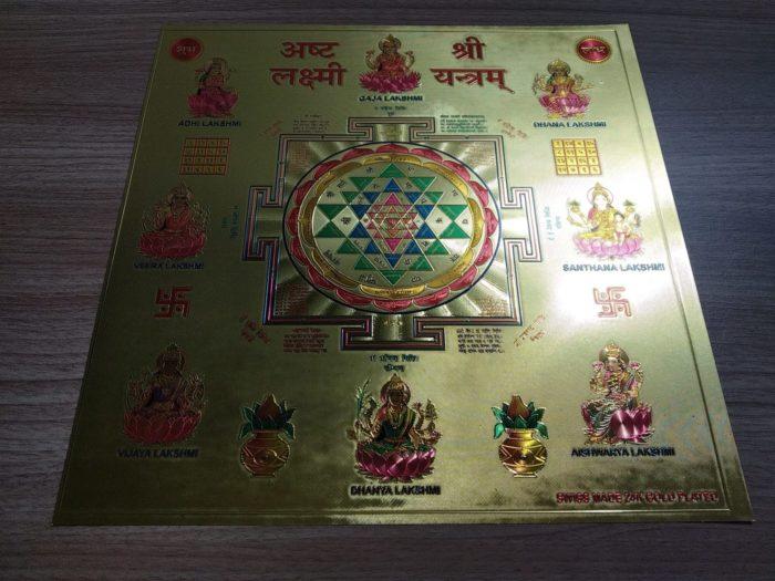 Ashta Lakshmi Sri Yantra