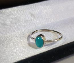 anel de prata turquesa