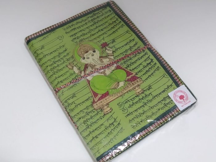caderno artesanal indiano Ganesha