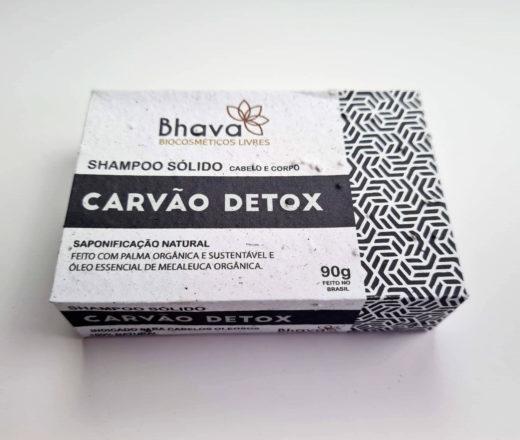 shampoo sólido lixo zero cabelos oleosos com copaíba, rícino e melaleuca feito pela Bhava