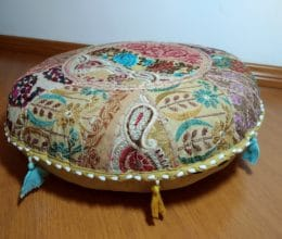 almofada de chão futon indiana