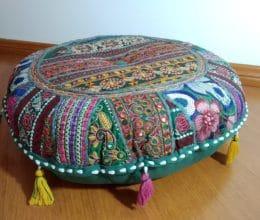 almofada indiana de chão