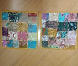 capa de almofada indiana patchwork