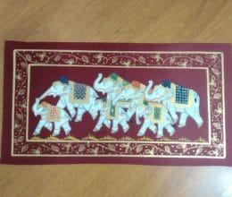 pintura Rajasthani hindu em seda