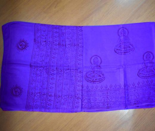 lenço devocional indiano com Buda