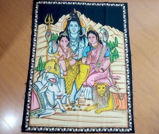 Panô de Shiva e Parvati com filhos