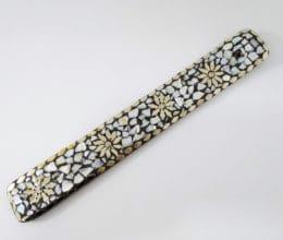 incensário de mosaico de pedras naturais