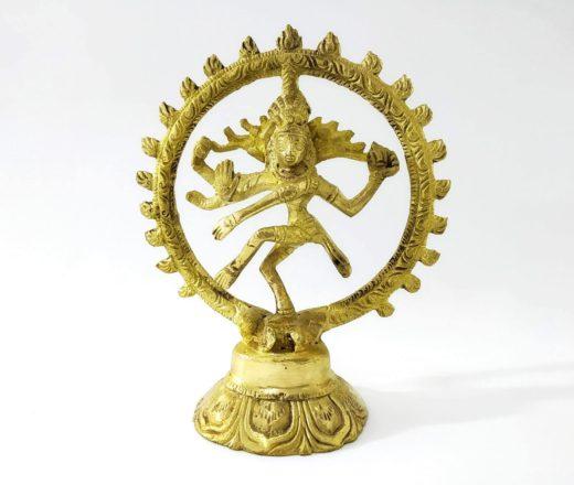 estátua de Shiva Nataraja pequena metal