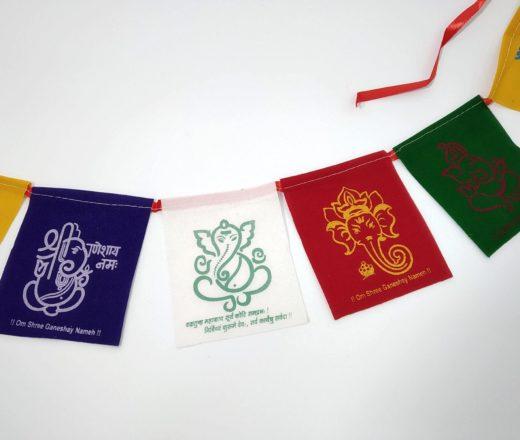 bandeira tibetana estampa Ganesha