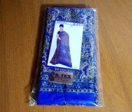sari indiano azul