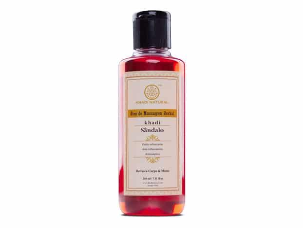 óleo para massagem de sândalo KHADI NATURAL