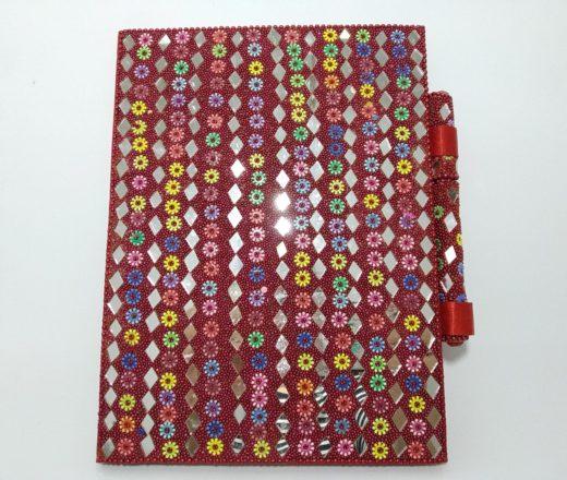 caderno indiano espelhinhos