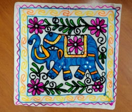 capa de almofada indiana bordada