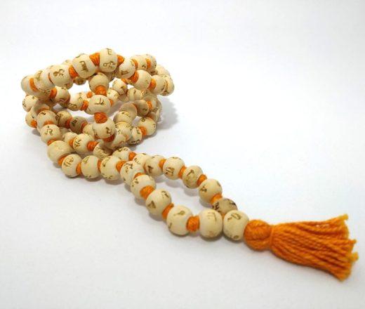 japamala semente de Neem com Maha Mantra