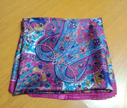 lenço de seda pink