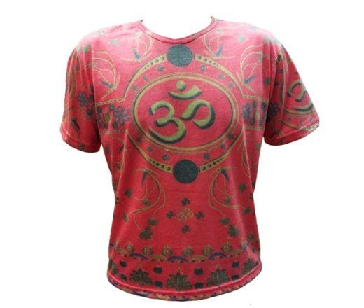 camiseta Om vermelha