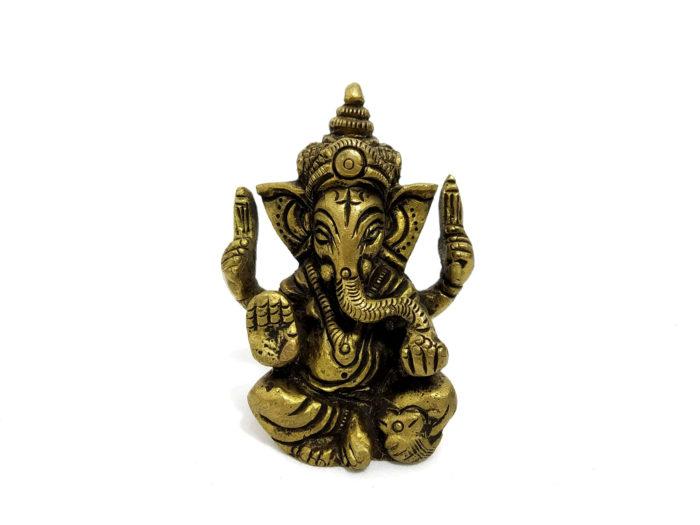 miniatura de Ganesha em metal