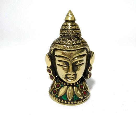 incensário de Buda em metal