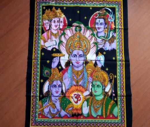 painel com 5 deuses hindus
