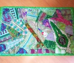 tapete indiano bordado patchwork