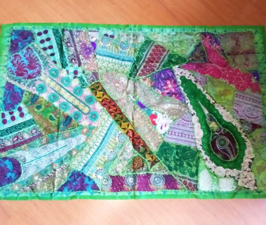 tapete indiano bordado patchwork
