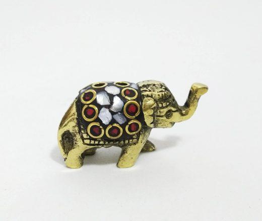 incensário elefante com mosaico de pedras