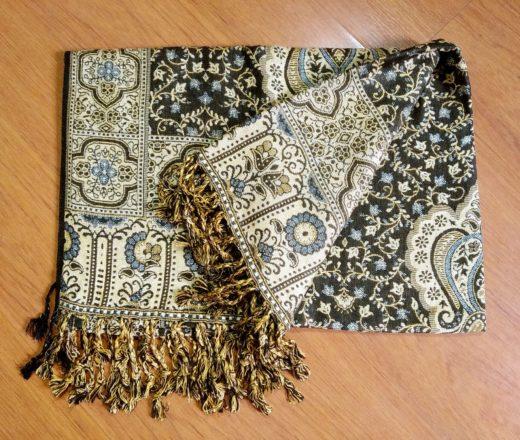 lenço indiano dupla face viscose e algodão
