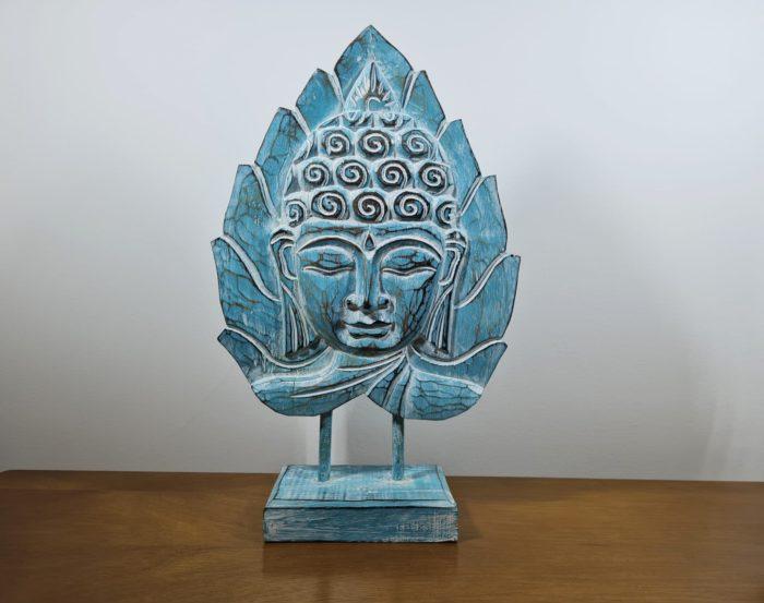 máscara de Buda de madeira