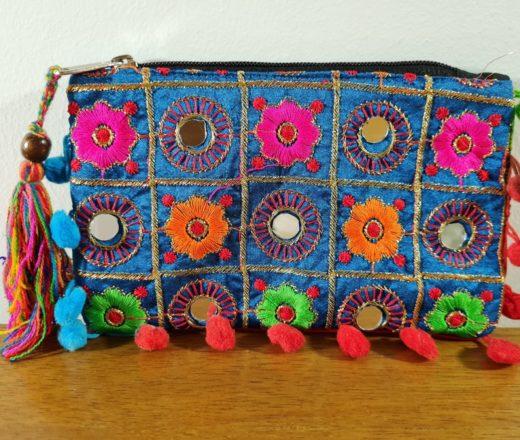 bolsinha de mão indiana
